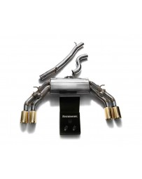 ARMYTRIX Stainless Steel Valvetronic Catback Exhaust System Quad Gold Tips Audi TTS Quattro MK3 8S 2.0 TFSI 2015-2020
