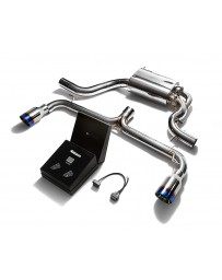 ARMYTRIX Stainless Steel Valvetronic Catback Exhaust System Dual Blue Coated Tips Volkswagen Golf GTI MK6 2010-2014