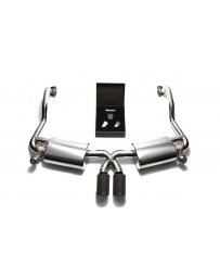 ARMYTRIX Stainless Steel Valvetronic Exhaust System Dual Matte Black Tips Porsche 987.2 Boxster Cayman PDK 2009-2012