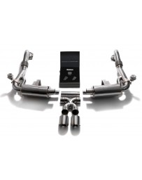 ARMYTRIX Stainless Steel Valvetronic Exhaust System Dual Chrome Silver Tips Porsche 718 Boxster Cayman 2017-2020