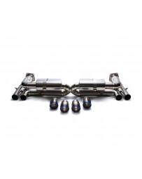 ARMYTRIX Titanium Valvetronic Exhaust System Dual Titanium Blue Tips Porsche 997 GT3 2007-2011