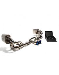 ARMYTRIX Titanium Valvetronic Exhaust System Dual Titanium Blue Tips Porsche 997 GT3 RS 2007-2011