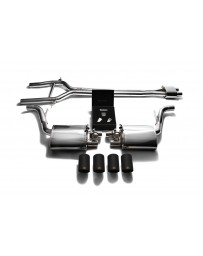 ARMYTRIX Stainless Steel Valvetronic Exhaust System Quad Matte Black Tips Porsche 970 Panamera S GTS 2010-2013