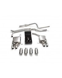 ARMYTRIX Stainless Steel Valvetronic Exhaust System Quad Chrome Silver Tips Porsche Macan 2.0T 2019+