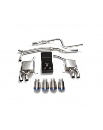 ARMYTRIX Stainless Steel Valvetronic Exhaust System Quad Blue Coated Tips Porsche Macan 2.0T 2019+