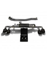 ARMYTRIX Titanium Valvetronic Catback Exhaust 90mm System Quad Matte Black Tips Nissan GT-R R35 2009-2020