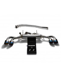 ARMYTRIX Stainless Steel Valvetronic Catback Exhaust 90mm System Quad Blue Coated Tips Nissan GT-R R35 2009-2020