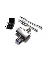 ARMYTRIX Stainless Steel Valvetronic Exhaust System Dual Blue Coated Mini Cooper S F 55 2014-2020
