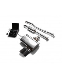 ARMYTRIX Stainless Steel Valvetronic Exhaust System Dual Matte Black Mini Cooper S F 55 2014-2020