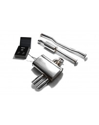 ARMYTRIX Stainless Steel Valvetronic Catback Exhaust System Dual Chrome Silver Tips Mini Cooper S F56 2014-2020