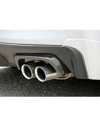 ChargeSpeed 15-20 WRX/ STi 4DR DryCarbon Exhaust Finisher Cow