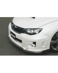 ChargeSpeed 11-14 WRX STi 4D Bottom Line T-2 Front Lip Carbon