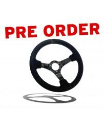 Street Aero Forged Carbon Fiber Suede Steering Wheel