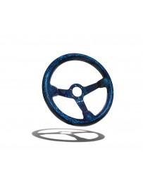 Street Aero Shadow Blue Forged Carbon Fiber Steering Wheel