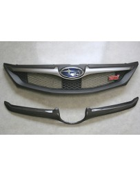 ChargeSpeed WRX STI Carbon Front Grill Finisher for OEM Grill