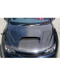 ChargeSpeed 08-14 Impreza WRX STI GH GR GV Vented Hood Carbon