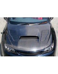 ChargeSpeed 08-14 Impreza WRX STI GH GR GV Vented Hood Carbon