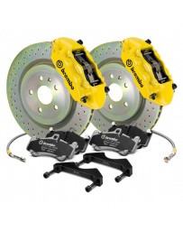 Focus ST 2013+ Brembo GT Series Cross Drilled Yellow 1-Piece Rotor Front Brake Kit