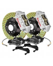 Focus ST 2013+ Brembo GT Series Cross Drilled Silver 2-Piece Rotor Front Brake Kit
