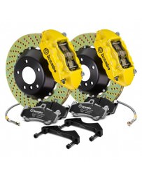 Focus ST 2013+ Brembo GT Series Cross Drilled Yellow 2-Piece Rotor Front Brake Kit