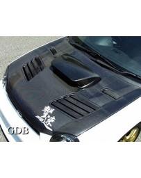 ChargeSpeed 2002-2003 Impreza WRX STi Vented Carbon Hood