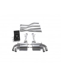ARMYTRIX Stainless Steel Valvetronic Exhaust System Quad Chrome Silver Tips Lexus LC500 5.0L V8 2017+