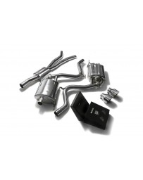 ARMYTRIX Stainless Steel Valvetronic Catback Exhaust System Dual Chrome Silver Tips Ford Mustang 2.3L EcoBoost 2015-2020