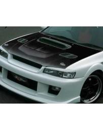 ChargeSpeed Subaru Impreza WRX GC-8 Vented Hood Japanese FRP