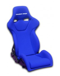 ChargeSpeed Reclined Racing Seat Genoa R Kevlar Blue