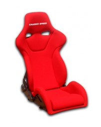 ChargeSpeed Reclined Racing Seat Genoa R FRP Red