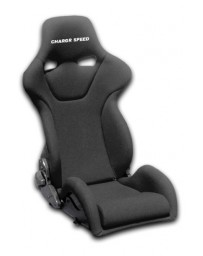 ChargeSpeed Reclined Racing Seat Genoa R FRP Black