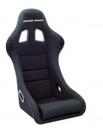 ChargeSpeed Bucket Racing Seat Shark Type Carbon Black