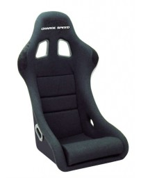 ChargeSpeed Bucket Racing Seat Shark Type Kevlar Black