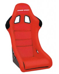 ChargeSpeed Bucket Racing Seat Shark Type Kevlar Red