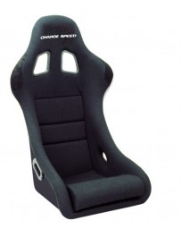 ChargeSpeed Bucket Racing Seat Shark Type FRP Black