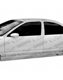 VIS Racing 1995-2005 Pontiac Sun Fire 4Dr Ballistix Side Skirt