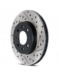 Focus ST 2013+ StopTech Drilled and Slotted Sport Rear Passenger Side Brake Rotor