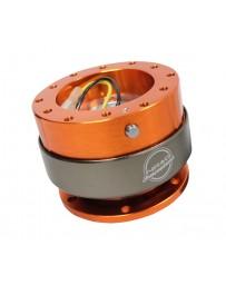NRG Quick Release Gen 2.0 - Orange Body / Titanium Chrome Ring