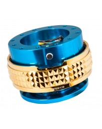 NRG Quick Release Kit - Pyramid Edition - Blue Body / Chrome Gold Pyramid Ring