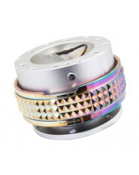 NRG Quick Release Kit - Pyramid Edition - Silver Body / Neochrome Pyramid Ring