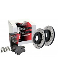 Focus ST 2013+ StopTech Drilled Rotors Front Brake Kit
