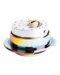 NRG Quick Release Gen 2.5 - Silver Body / Neochrome Ring
