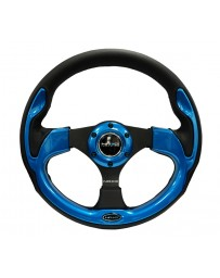 NRG Reinforced Steering Wheel (320mm) Blk with Blue Trim