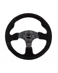 NRG Reinforced Steering Wheel (320mm) Suede with Black Stitch