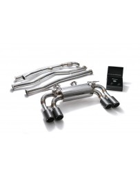 ARMYTRIX Stainless Steel Valvetronic Catback Exhaust System Quad Carbon Tips BMW M2 F87 2016-2020