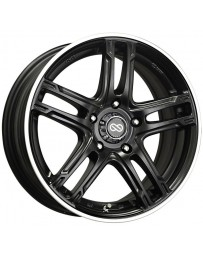 Enkei FD-05 16x7 5x100 387mm Offset 72.6 Bore Dia Black Machined Wheel