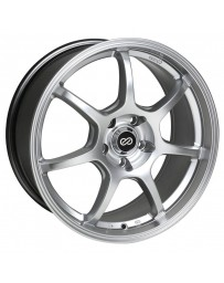 Enkei GT7 18x8 42mm Offset 5X120 Bolt Pattern 72.6 Bore Dia Hyper Silver Wheel