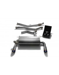 ARMYTRIX Stainless Steel Valvetronic Catback Exhaust Dual Blue Chrome BMW 335i 435i F3x 2012-2015