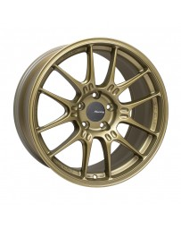 Enkei GTC02 18x9 5x112 25mm Offset 66.5mm Bore Titanium Gold Wheel