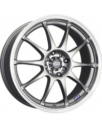 Enkei J10 16x7 4x100/108 42mm Offset 72.62mm Bore Dia Silver w/ Machined Lip Wheel